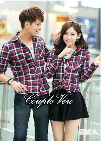 Model Baju Hem Couple Lengan Panjang Motif Kotak Terbaru