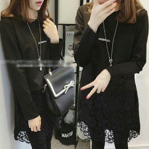 Model Baju Kaos Terbaru Wanita Lengan Panjang Lucu Modern