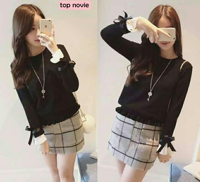 Model Baju Kaos Terbaru Wanita Lengan Panjang Modern
