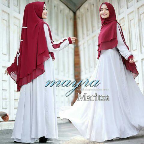 Model Baju Setelan Gamis Syari Muslimah Modern Cantik Terbaru