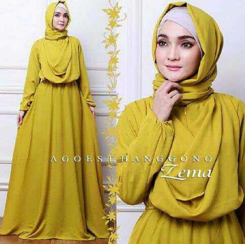 Model Gamis Long Dress Muslim Modern Terbaru dan Modis