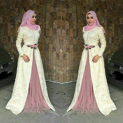 Model Gamis Modern Terbaru Baju Muslim Setelan Hijab Modis
