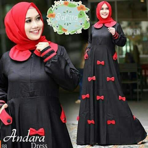 Model Gamis Terbaru Desain Setelan Hijab Modis Modern