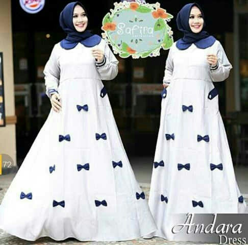 Model Gamis Terbaru Desain Setelan Hijab Modis Modern Ryn Fashion