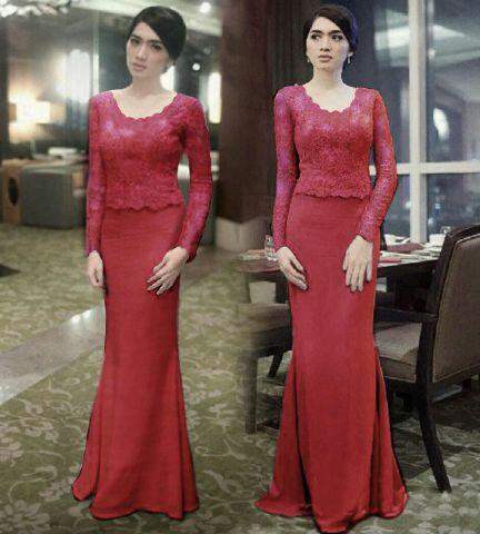 Model Setelan Baju Kebaya Brukat Modern Terbaru Cantik Murah Ryn