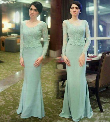 Model Setelan Baju Kebaya Brukat Modern Terbaru Cantik Murah