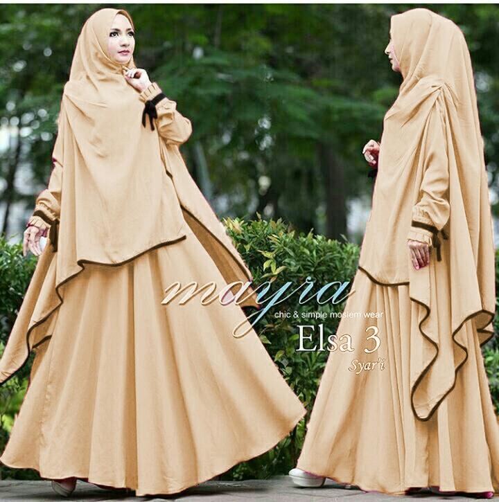 Baju Gamis Syari Warna Hitam Gamis Murni