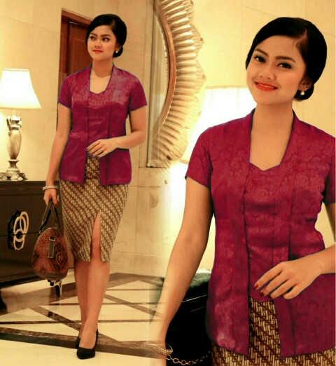 Setelan Baju Kebaya & Rok Pendek Cantik Modern Model Terbaru