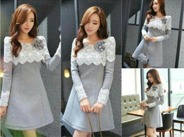 Baju Dress Pendek Cantik dan Murah Lengan Panjang Model Terbaru