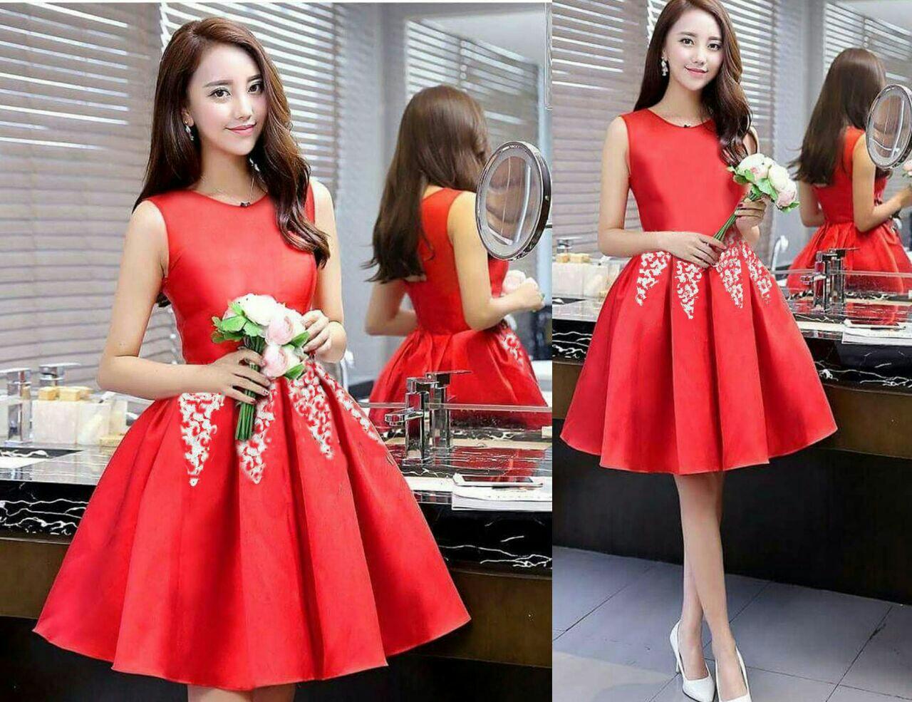 Baju Dress Pendek Lengan Buntung Cantik Modern Model Terbaru