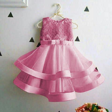 Baju Dress Pink Anak Perempuan Cantik dan Lucu Model Terbaru