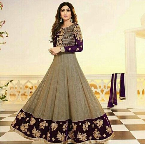 Baju Gaun Gamis Long Dress India Model Terbaru Cantik Modern