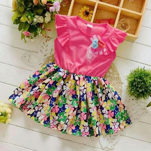 Model Baju Dress Bunga Anak Perempuan Cantik Lucu dan Murah