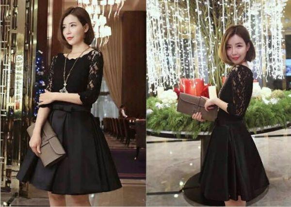 Model Baju Dress Pendek Brukat Satin Desain Cantik Model Terbaru
