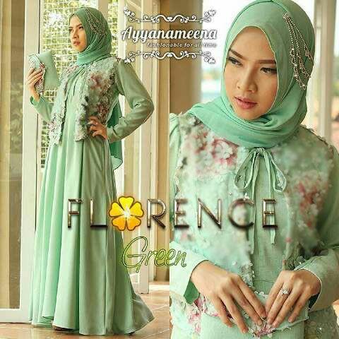 Model Baju Gamis Modern Setelan Hijab Modis Terbaru Cantik
