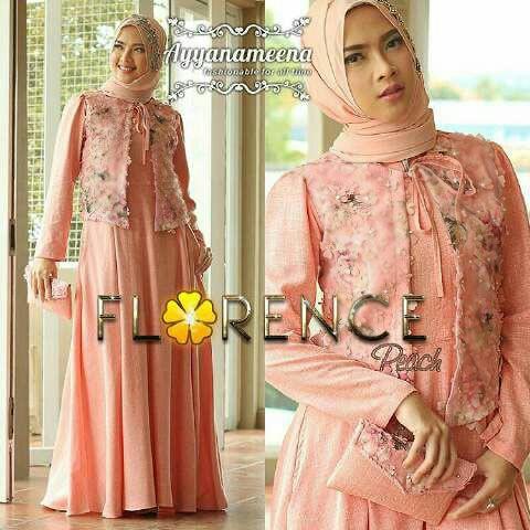 Model Baju Gamis Modern Setelan Hijab Modis Terbaru Cantik Ryn