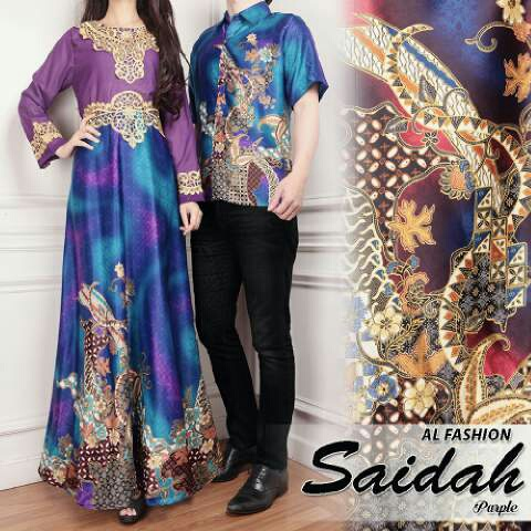 Model Long Dress dan Baju Kemeja Couple Batik Modern Terbaru