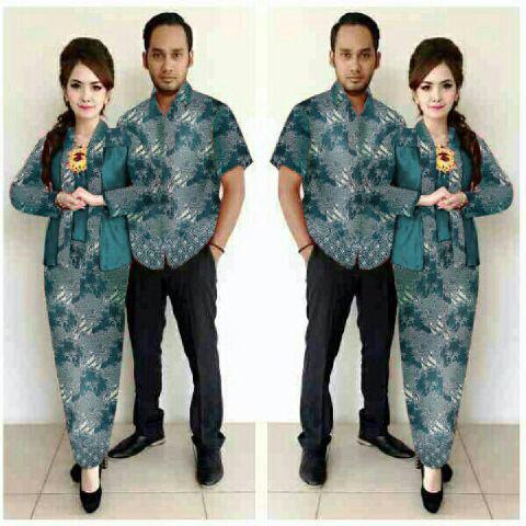 Setelan Baju Couple Batik Muslim Modern Model Terbaru Keren