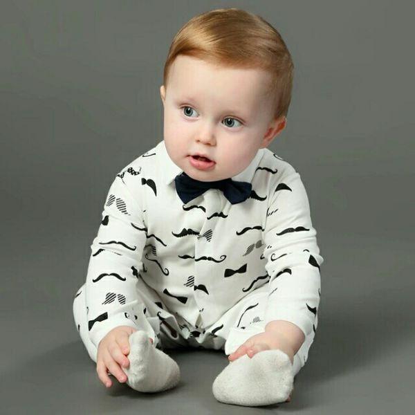 Setelan Baju Kaos dan Celana Panjang Anak Laki-laki Warna Putih