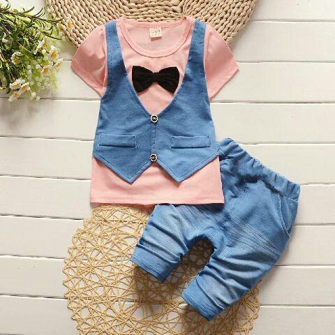 Setelan Baju Rompi dan Celana Anak Laki-laki Keren Model Terbaru