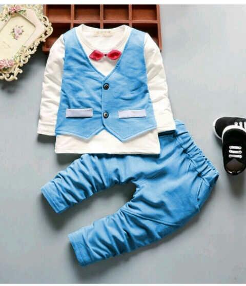 Setelan Baju Rompi dan Celana Panjang Anak Laki-laki Modern
