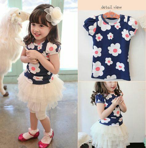 Setelan Baju dan Celana Anak Perempuan Modern Model Terbaru