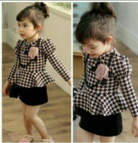 Setelan Baju dan Rok Mini Span Anak Perempuan Model Terbaru