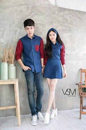 Baju Couple Kemeja dan Terusan Modis Modern Model Terbaru