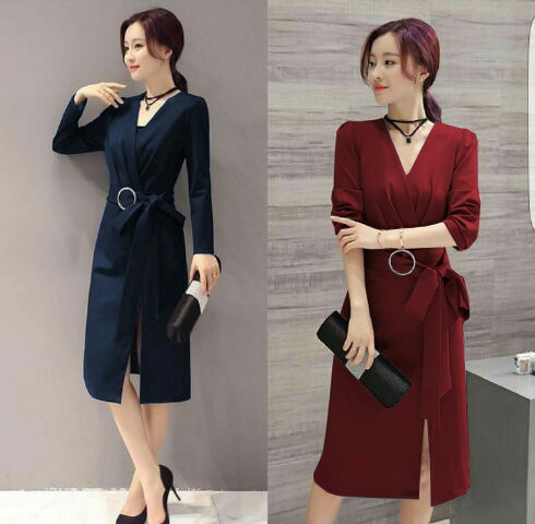 Baju Dress Pendek Lengan Panjang Cantik Unik Model Terbaru