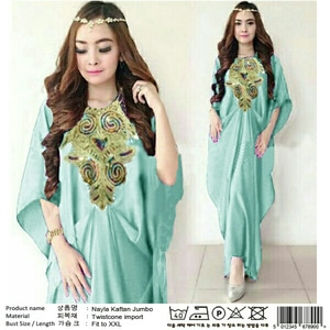 Baju Gaun Long Dress Kaftan Panjang Cantik Model Terbaru