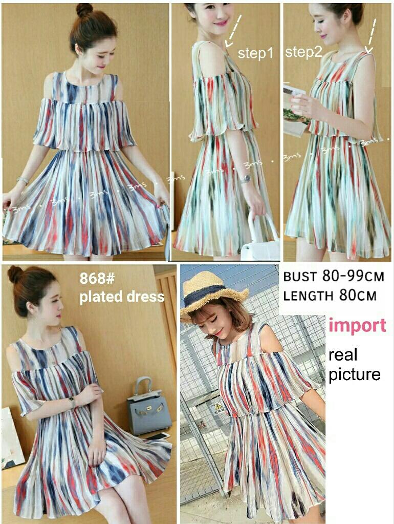 Baju Mini Dress Pendek Dewasa Cantik Bahan Sifon Model Terbaru