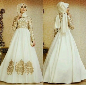 Model Baju Gamis Long Dress Muslim Modern Terbaru Warna Putih Ryn