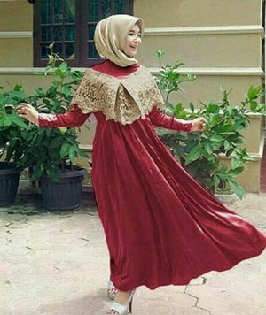 Model Baju Gamis Long Dress Sabrina Muslim Modern Terbaru