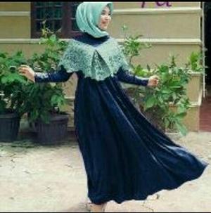 Model Baju Gamis Long Dress Sabrina Muslim Modern Terbaru