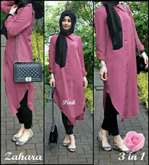 Model Baju Setelan Hijab Celana Tunik Modis Modern Terbaru