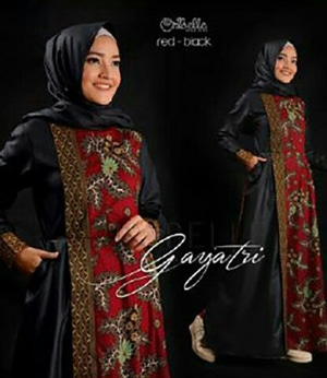 Model Baju Setelan Long Dress Muslim Gamis Batik Modern