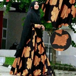 Model Setelan Baju Gamis Syari Muslimah Busui Modern Terbaru