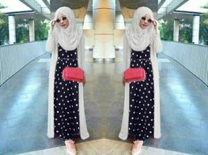 Pakaian Setelan Hijab Long Cardigan 3 in 1 Modis Model Terbaru