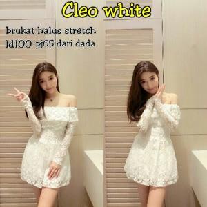 Baju Mini Dress Pendek Bahan Brukat Model Sabrina Cantik Terbaru