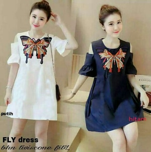 Baju Mini Dress Pendek Bahu Bolong Cantik Ala Korea Murah