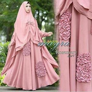 Model Baju Gamis Syari Busui Modern Desain Cantik Terbaru