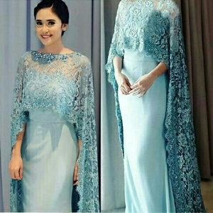 Model Baju Gaun Maxy Long Dress Brukat Cantik Murah Terbaru