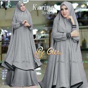 Setelan Baju Gamis Syari Jilbab Bergo Panjang Model Terbaru