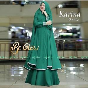 Setelan Baju Gamis Syari Jilbab Bergo Panjang Model Terbaru Ryn