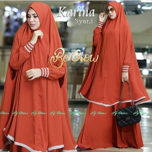 Setelan Baju Gamis Syari & Jilbab Bergo Panjang Model Terbaru
