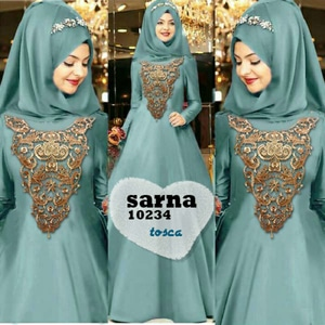 Baju Gamis Long Dress Muslim Cantik Fashion Hijab Modern Terkini