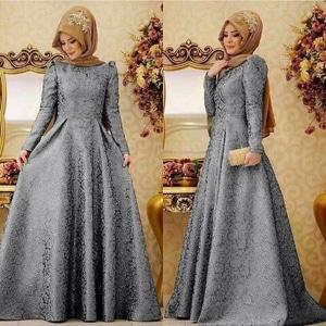 Gaun Kebaya Warna Abu Abu