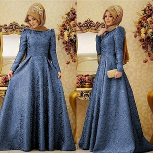Baju Gamis Long Dress Muslim Perempuan Modern Model Terbaru