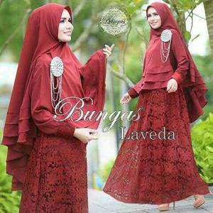 Baju Muslim Wanita Gamis Syari Busui Brukat Modern Model Terbaru