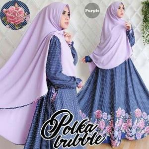 Model Setelan Baju Gamis Syari Motif Cantik Modern Terbaru